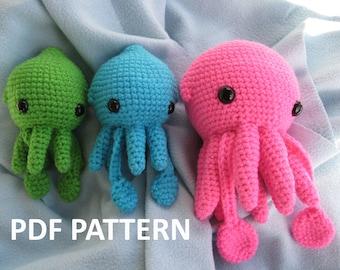 Squid Squidling Amigurumi Crochet Pattern