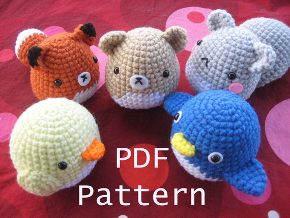 Amigurumi Crochet Critter Pattern - Squirrel, Fox, Penguin, Chick, Fox and more