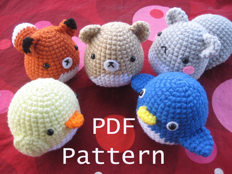 Amigurumi Squirrel Crochet Pattern : Amigurumi Crochet Critter Pattern Squirrel Fox Penguin