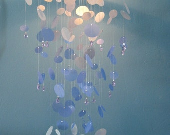 Polka Dots-Shades of Blue-Mobile/Paper Chandelier-MEDIUM