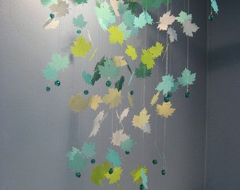 Maple Leaf Mobile - Blues and Greens - LARGE