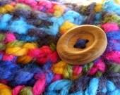 indigo rainbow superchunk - crocheted cowl