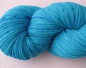 SALE Hand Dyed Sock Yarn in Speckle Me Blue