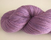 SALE Hand Dyed Sock Yarn in Punky Violet