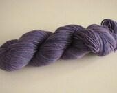 SALE Hand Dyed Sock Yarn in Purple Skies