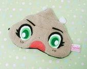FREE SHIPPING!  Kawaii Sleeping Eye Mask - PennyBoo the Poo with Green Manga Eyes and Flies