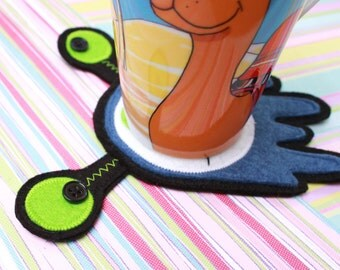FREE SHIPPING! Felt Coaster - Gubb Gubb the 3-Eyed Alien