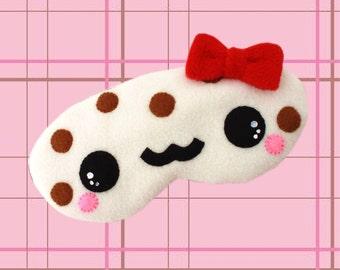 "FREE SHIPPING! Kawaii Sleeping Eye Mask - ""Vivi"" the White Chocolate and Ginger Sprinkles Cookie"