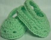 Croc Inspired Baby slippers (3-6 mon.)