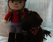 Cowboy and His Trusty Steed (Made to order)