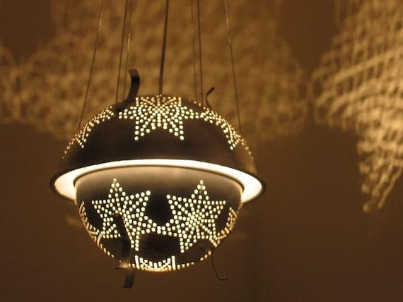 Sputnik 1 star colander lantern - Reserve for Candace - Deposit on custom order