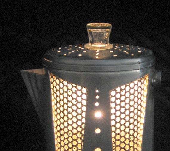 Coffee de Lux percolator lantern