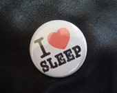 An I Heart Sleep button