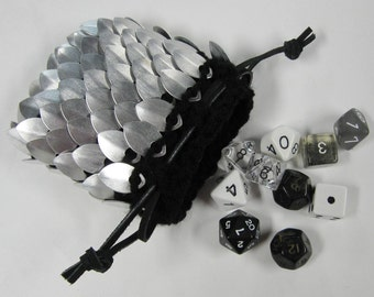 Scale Armor Dice Bag Knitted Dragonhide Rogue small size
