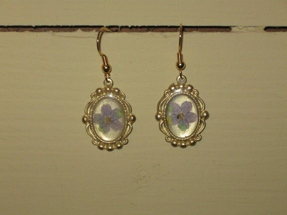 Forget-me-not Victorian Garden earrings
