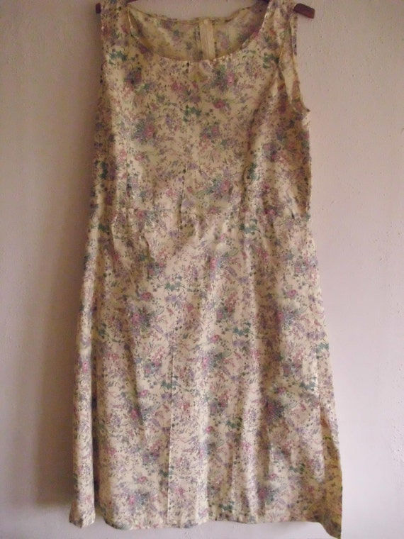 The Sibylle Baier Floral Dress  Old Fashioned Pale Yellow  Contemporary Fabric