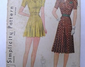 1940s Simplicity Playsuit and Skirt Patterns Size 14 No 3304