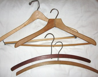 Vintage Wooden Suit 4 Display Hangers
