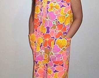 Vintage Robe or Swim Suit Cover Up Hawaiian