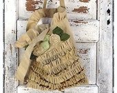Tote Bag, Bella Bag Aged Cotton, Tattered Flowers , Bridesmaid Totes, Fall