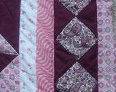 Pink and Purple Pinwheel Quilt