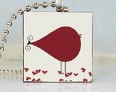 No. 182 - Bird in Love (red) Pendant