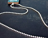 2.4mm Silver-plated Ball Chain necklace - You choose the length