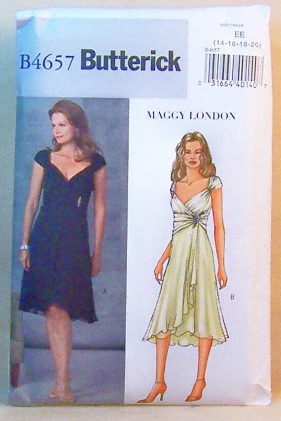 Sewing Pattern Ladies Dress Butterick 4657 Maggy London
