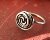 sterling silver patina ring in your size SWIRL OF LOVE free shipping domestic