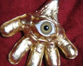 Golden hand of fate with the Eye of eternity, alter piece, geekery, weird, Cosplay, accessories