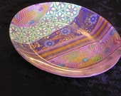RESEREVED for ANGELA -  2 Oval plate , Made to Order , Millefiori Polymer Clay