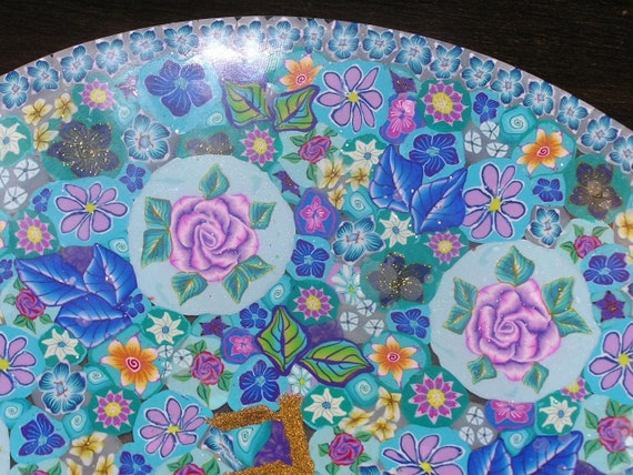 Reserved for Lisa - Seder - Passover Plate - Vernal , Springy Decotared