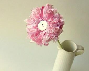 Pink Fizz Ribbon Flower, wedding table decor
