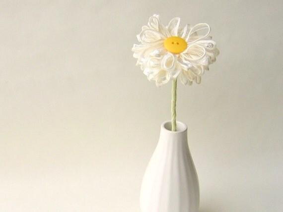 Ivory Ribbon Flower, table decor, home decor, wedding decor
