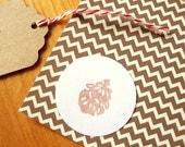 Pine Cone Envelope Seals - Round Stickers