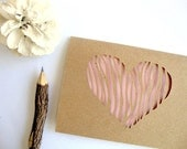 Pink Heart Valentine's Day Card - Valentine for Mom - Ready to Ship - Valentine Card Her - Valentine for Wife - Valentine for Girlfriend