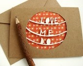 Love Me Do Card - Paper Cut Painted Greeting