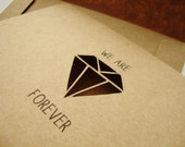 We Are Forever Diamond Greeting Card - Geometric Paper Cut