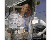 THE LIPS OF AN EXOTIC MANIKIN, Robson Street Reflections Vancouver BC, Canada,  SONJA REITER FINE ART PHOTO