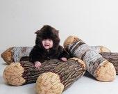 Long Cotton Wood Tree Log Bolster Pillow