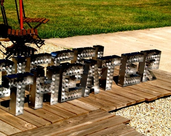 movie theater marquee letter light channel any letter metal vintage sign is per letter - Marquee Letter Lights