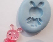 little Rabbit flexible Silicone Push Mold for Polymer clay, Resin,Wax,Miniature Food,Sweets,plaster