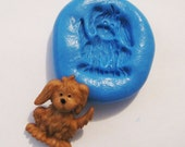 Dog Flexible Silicone Push Mold for Polymer clay, Resin,Wax,Miniature Food,Sweets,plaster