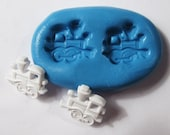 Train Flexible Silicone Push Mold for Polymer clay, Resin,Wax,Miniature Food,Sweets and more..