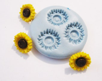 sunflower Flexible Silicone Push Mold for Polymer clay, Resin,Wax,Miniature Food,Sweets, plaster
