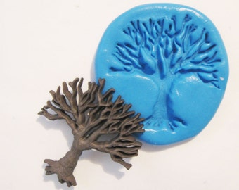 Tree Flexible Silicone Push Mold for Polymer clay, Resin,Wax,Miniature Food,Sweets,plaster