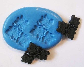 Leaf Flexible Silicone Push Mold for Polymer clay, Resin,Wax,Miniature Food,Sweets,plaster