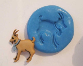 goat Flexible Silicone Push Mold for Polymer clay, Resin,Wax,Miniature Food,Sweets and more..