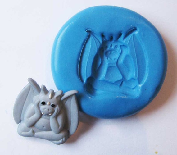 Elf Devil Flexible Silicone Push Mold for Polymer clay, Resin,Wax,Miniature Food,Sweets,plaster