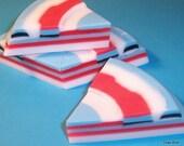 Plumeria Soap Wedge Modern Design and Fantastic Scent